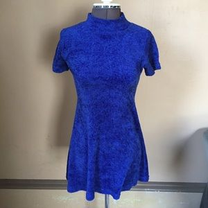 Vintage 90s Blue Terry Cloth Dress